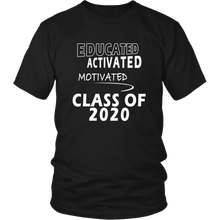 Load image into Gallery viewer, Educated - Class of 2020 Shirt Designs - Black