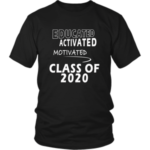 Educated - Class of 2020 Shirt Designs - Black