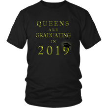 Load image into Gallery viewer, Queens Are Graduating In 2019 - Senior 2019 Shirt - Black