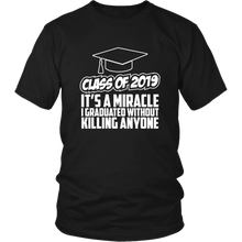 Load image into Gallery viewer, It's A Miracle - Class Of 2019 Shirts Ideas - Black