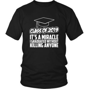 It's A Miracle - Class Of 2019 Shirts Ideas - Black
