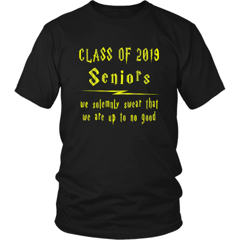 We Solemnly Swear - Class of 2019 T shirts - Black