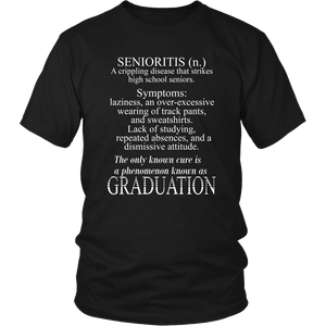 Senioritis - Class of 2019 T shirts - Black