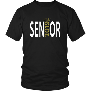 Class of 2019 shirt ideas - Sen19r - Black