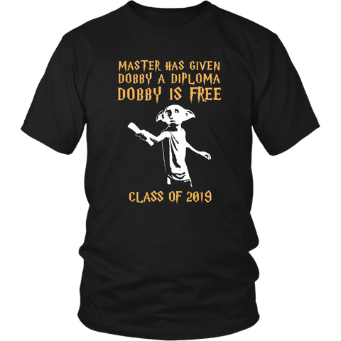 Dobby Is Free - Class of 2019 T-shirt - Black