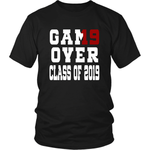 Game Over - Graduation Shirts - Black