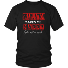 Load image into Gallery viewer, Graduation Makes Me Happy - Senior Class of 2019 Shirts - Black