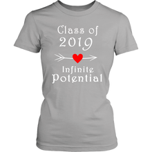 Load image into Gallery viewer, Infinite Potential Shirt - Senior Class of 2019 Slogans - Silver