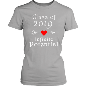 Infinite Potential Shirt - Senior Class of 2019 Slogans - Silver