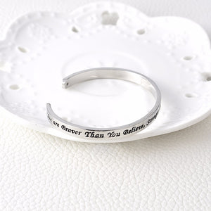 You Are Braver Than You Believe - Graduation Bracelet