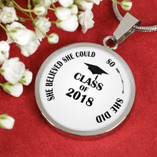Load image into Gallery viewer, She Believed She Could So She Did - Personalized Graduation Necklaces