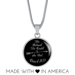 She Believed She Could So She Did - Graduation Necklaces