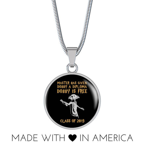Master Has Given Dobby A Diploma - 2019 Graduation Necklace