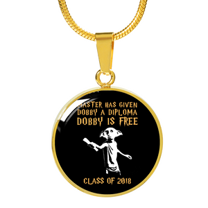 Dobby Is Free - Personalized Graduation Necklace