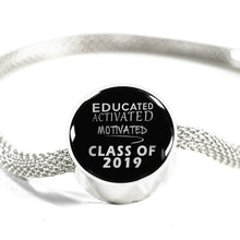 Load image into Gallery viewer, Educated Activated Motivated - Personalized Pandora Graduation Charms