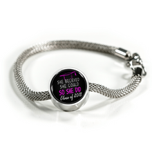 Load image into Gallery viewer, She Believed She Could So She Did - Graduation Charm Pandora for bracelet