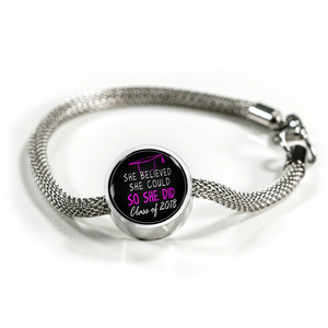 She Believed She Could So She Did - Graduation Charm Pandora for bracelet