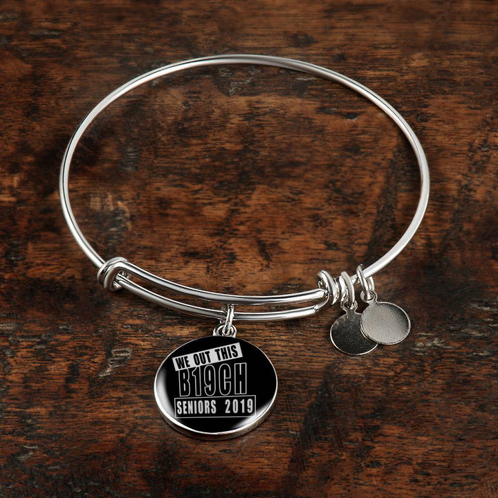 We Out This B19ch - 2019 Personalized Graduation Bracelets