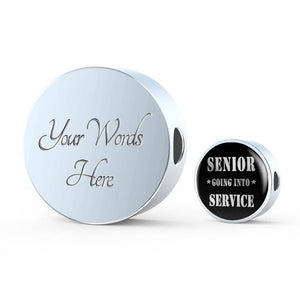 Senior Going Into Service - Graduation Charm For Pandora Bracelet