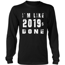 Load image into Gallery viewer, Class of 2019 T-shirts - 2019% Done - Black