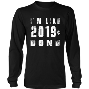 Class of 2019 T-shirts - 2019% Done - Black