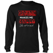 Load image into Gallery viewer, Graduation Makes Me Happy - Class of 2019 Graduation Shirts - Black