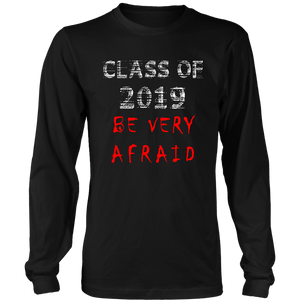 Class of 2019 t-shirts with slogans - black