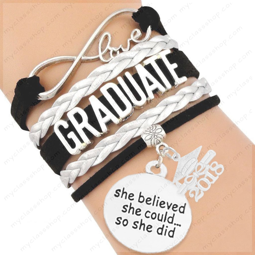 Class of 2018 Personalized Graduation Bracelet