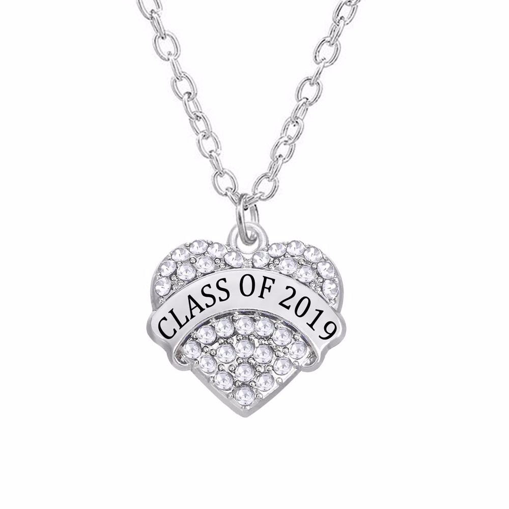 Heart Necklace Class Of 2019 Necklace My Class Shop