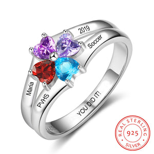 Class Rings For Girls - 925 Sterling Silver