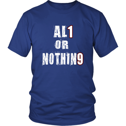 All Or Nothing - Class Of 2019 Shirt Ideas - Blue