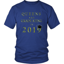 Load image into Gallery viewer, Queens Are Graduating In 2019 - Senior 2019 Shirt - Blue