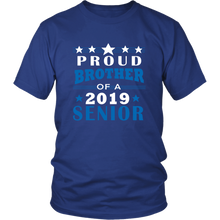 Load image into Gallery viewer, Proud Brother of 2019 Senior - Ideas For Family Shirts