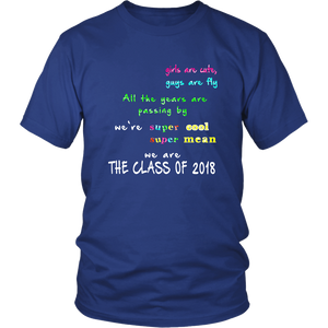 class of 2018 shirts design