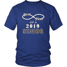 Load image into Gallery viewer, Class T-shirt Ideas 2019 - Best Friend Of A 2019 Senior - Blue