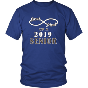 Class T-shirt Ideas 2019 - Best Friend Of A 2019 Senior - Blue