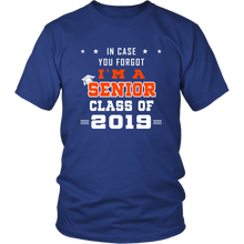 Load image into Gallery viewer, I'm A Senior - Class of 2019 Slogan - Blue