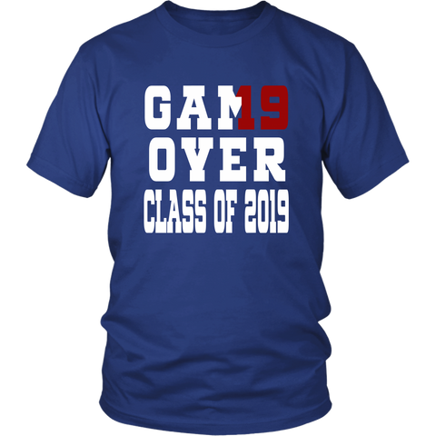 Game Over - Graduation Shirts - Blue