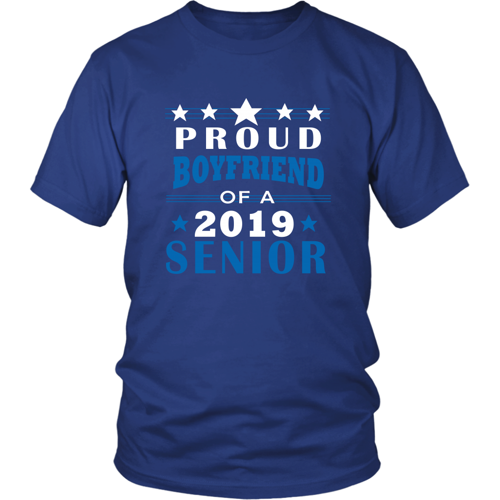 Proud Boyfriend Of A 2019 Senior - Graduation Shirts For Family Designs