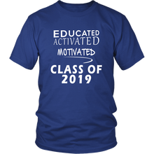 Load image into Gallery viewer, Class of 2019 t shirt slogans - Sen19rs shirt - Blue