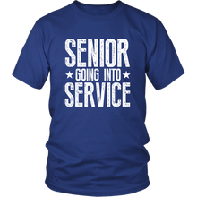 Load image into Gallery viewer, Senior Going Into Service - Class of 2019 T-shirt - Blue