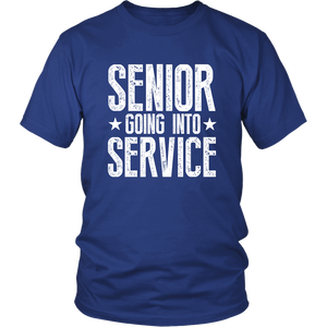 Senior Going Into Service - Class of 2019 T-shirt - Blue