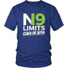 Load image into Gallery viewer, No Limits - Class of 2019 Senior Shirts - Blue