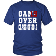 Load image into Gallery viewer, Class of 19 shirts - Game Over - Blue