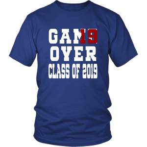 Class of 19 shirts - Game Over - Blue