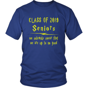 We Solemnly Swear - Class of 2019 T shirts - Blue