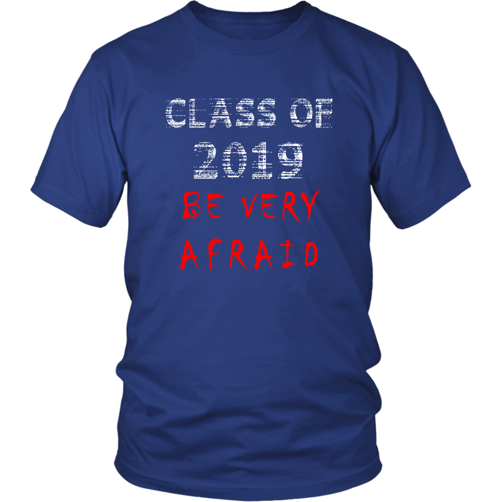 Class of 2019 shirts with slogans - Blue