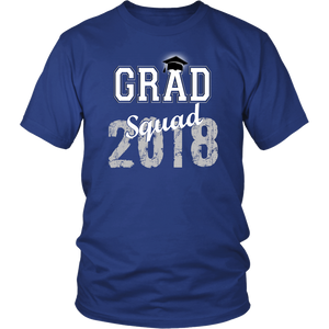 2018 Grad Squad T shirts - Graduation Shirts For Family - Blue