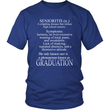Load image into Gallery viewer, Senioritis - Class of 2019 T shirts - Blue
