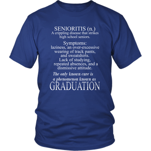 Senioritis - Class of 2019 T shirts - Blue